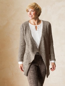 Strickjacke Soft Boucle