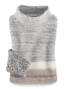 Pullover Binato Offwhite-Rose Detail 3