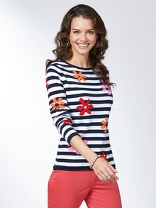 Pullover Ringelblüte
