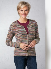 Alpaka Strickjacke - Soft Boucle