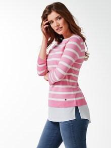 Streifen Sweatshirt 2in1