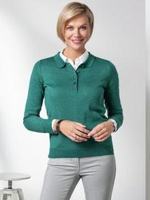 Merino-Mix Polo-Pullover