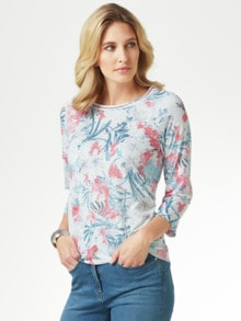Shirt Aquarellblume