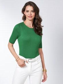 Strickshirt Pima-Cotton Uni