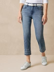 NYDJ Ankle Jeans Stickerei