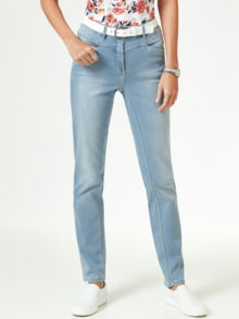 Powerstretch Jeans Blue Bleached Detail 1