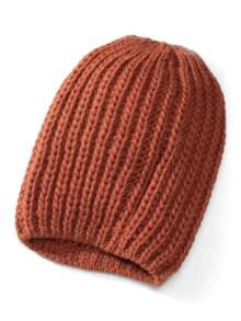Rippenstrick-Mütze