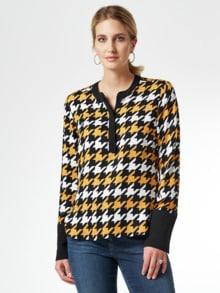 Shirtbluse Hahnentritt
