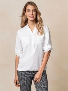 Blousonbluse Polo-Optik