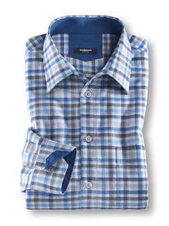 Sommerhemd Karo Blau/Grau Detail 1