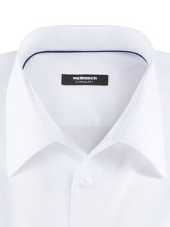 Extraglatt-Hemd Naturstretch Weiß Detail 3