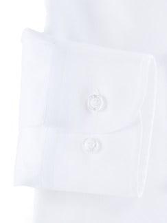 Extraglatt-Hemd Naturstretch Weiß Detail 4