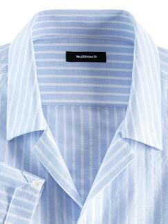 Kurzarm-Shirt Riviera Hellblau/Weiß Detail 4
