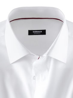 Extraglatt-Hemd Black & White Weiß Detail 4