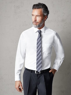 Extraglatt-Hemd Black & White Weiß Detail 2