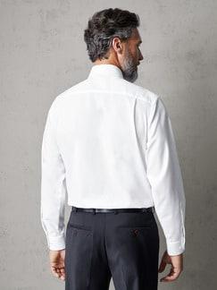 Extraglatt-Hemd Black & White Weiß Detail 3