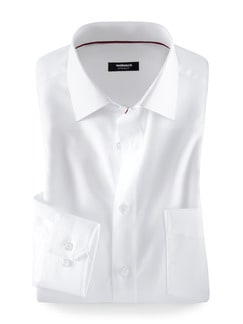 Extraglatt-Hemd Black & White Weiß Detail 1