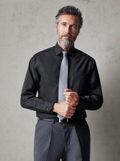 Extraglatt-Hemd Black & White Schwarz Detail 2