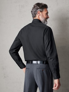 Extraglatt-Hemd Black & White Schwarz Detail 3