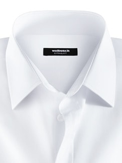Business-Hemd Naturstretch Weiß Detail 3