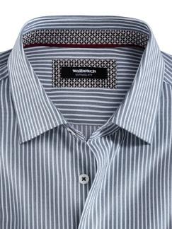 Extraglatt-Hemd Burgund Streifen Detail 3