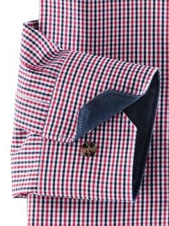 Extraglatt Karo Shirt Rot/Blau Detail 4