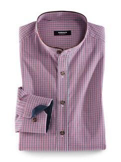 Extraglatt Karo Shirt Rot/Blau Detail 1