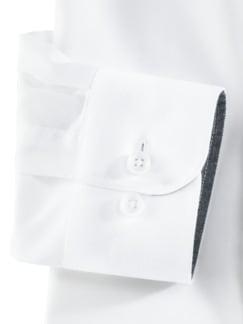 Freizeithemd Sorona Uni Weiß Detail 4