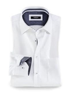 Extraglatt-Hemd Heritage Weiß Detail 1