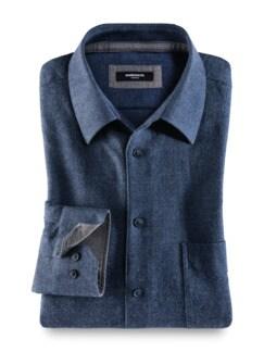 Himalaya-Hemd Uni Blau Detail 1
