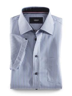 Kurzarm-Hemd Streifen Blau Detail 1