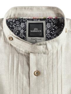 Leinen-Trachtenhemd Beige Detail 4