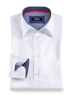 Extraglatt Hemd Walbusch Kragen Weiß Detail 1