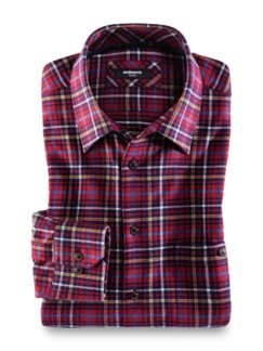 Thermoflanell-Hemd Tartan Rot/Gelb Detail 1