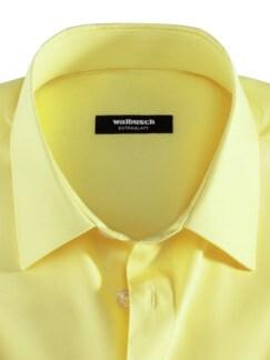 Extraglatt-Hemd Kent-Kragen Gelb Detail 3