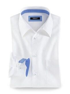 Extraglatt-Hemd Maritim Weiß Detail 1