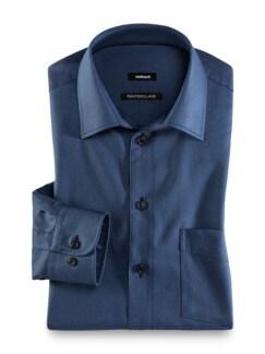Masterclass-Hemd Uni Blau Detail 1