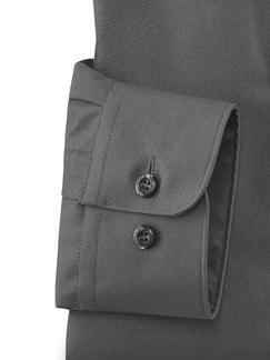 Extraglatt-Hemd Walbusch-Kragen Anthrazit Detail 4