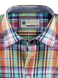 Irisches Leinenhemd Madraskaro Detail 3