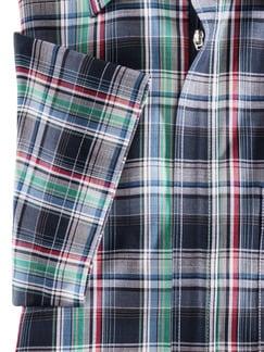 Reißverschluss-Hemd Tropical Blau/Rot/Grün Detail 4