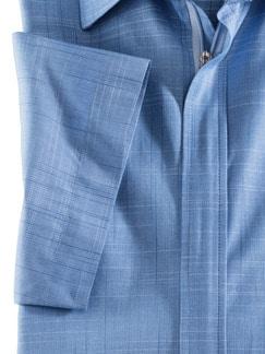 Reißverschluss-Hemd Tropical Blau Detail 4
