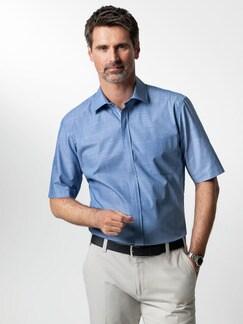 Reißverschluss-Hemd Tropical Blau Detail 2