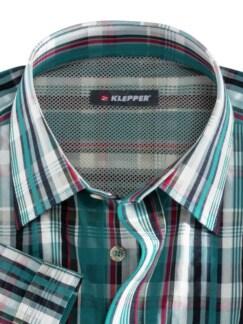 Klepper Kurzarm-Hemd Coolmax Lagune Detail 3