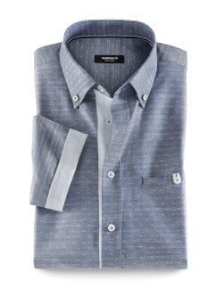 Easycare Slub-Shirt Minimal Blau Detail 1