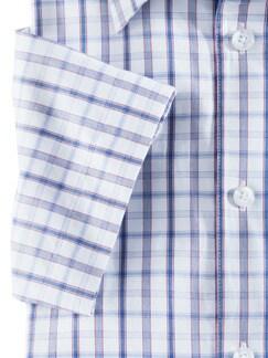 Extraglatt-Hemd Clubkaro Blau/Rot Detail 4