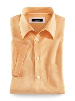 Leinenmix-Stretch-Hemd Gelb Detail 1