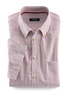 Extraglatt-Hemd Twillstreifen Rot Detail 1