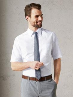 Extraglatt-Hemd Walbusch-Kragen Weiß Detail 2