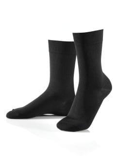 Pima-Cotton Socke 3er-Pack Schwarz Detail 1