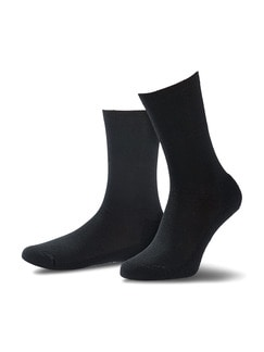 Thermosoft-Socke 2er-Pack Schwarz Detail 1